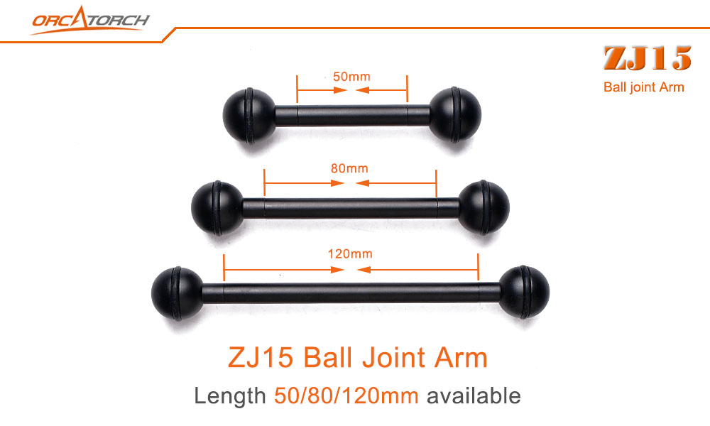 Orcatorch ball joint arm